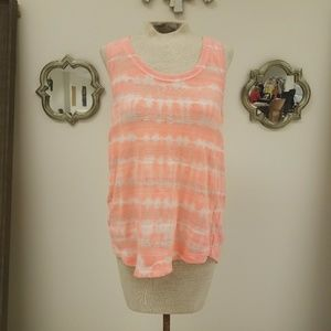 Splendid Neon Coral Knitted Tank Top